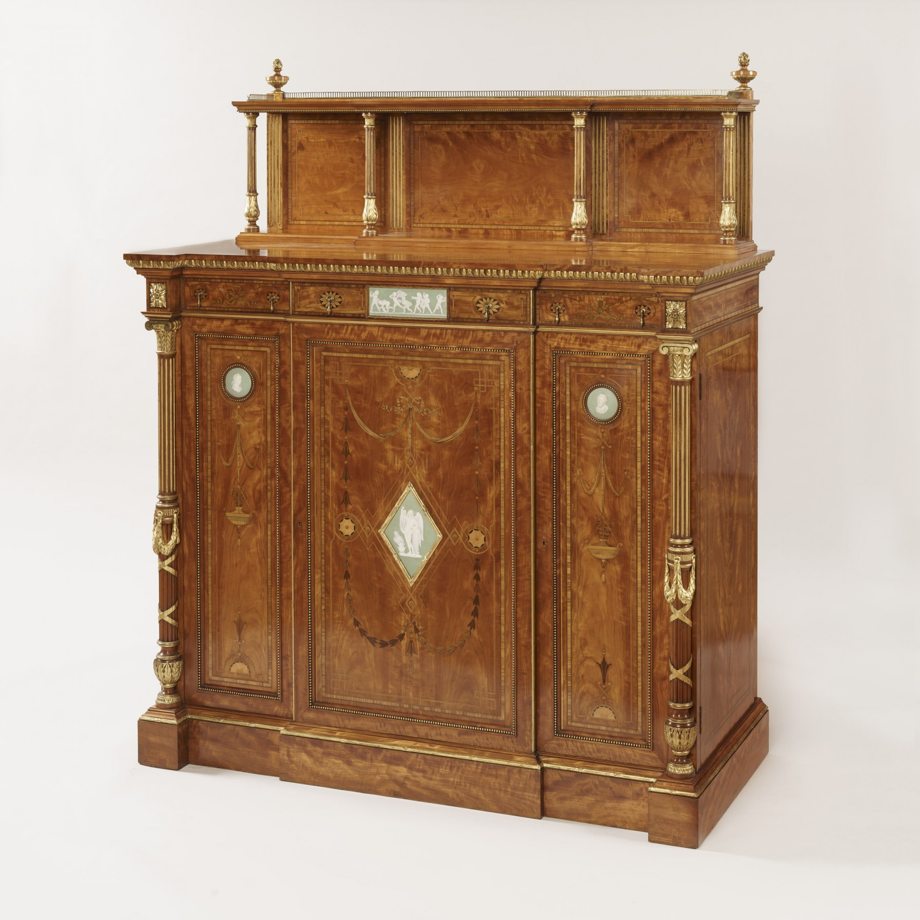 9046 Satinwood Cabinet attributed to Wright & Mansfield