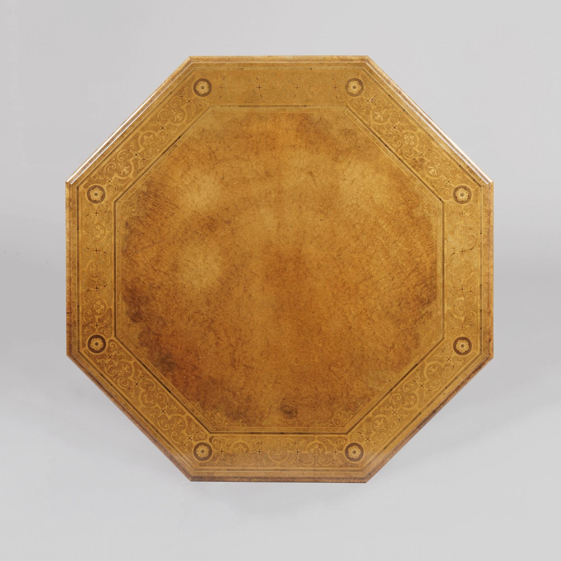 9139 Octagonal centre Table by Johnstone & Jeanes top