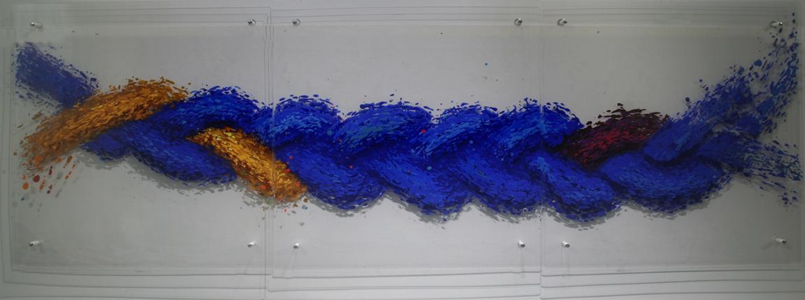 Braid#1abc.24×72.acrylic glass.acrylic